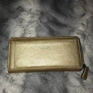 Gold coach wallet
